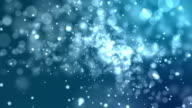 4k Blue Abstract of Bright and sparkling bokeh background