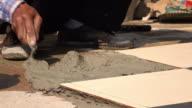 4k, construction worker flooring