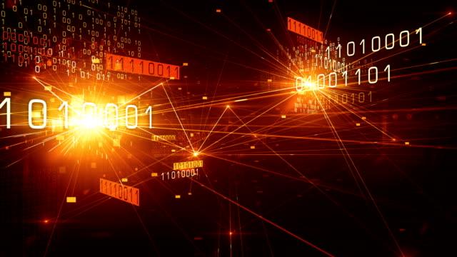4k Flying Through Binary Network (Red) - Loop