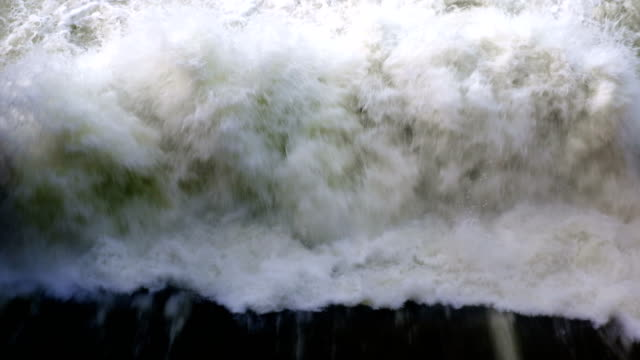 4k footage of Hydroelectric Dam spillway in Thailand