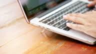 4k Hand on keyboard close up
