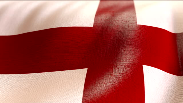 4k Highly Detailed Flag Of England