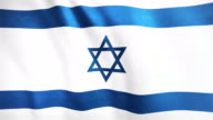 4k Highly Detailed Flag Of Israel - Loopable