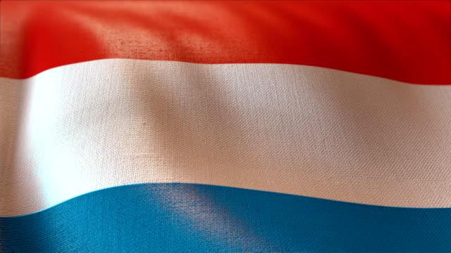 4 k hochdetaillierte Flagge der Luxebourg