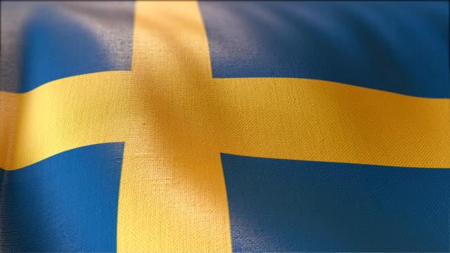 4 k hochdetaillierte Flagge Schwedens