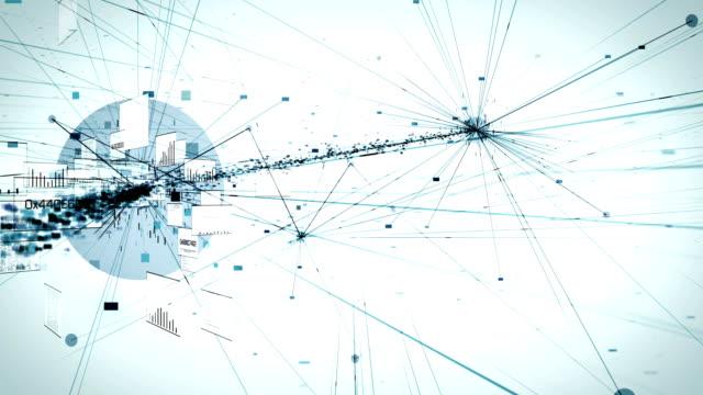 4k Highly Detailed Neural Network, Cloud Computing, Data Processing (White) - Loop