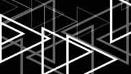 4k Modern White Triangles Abstract Background On Black