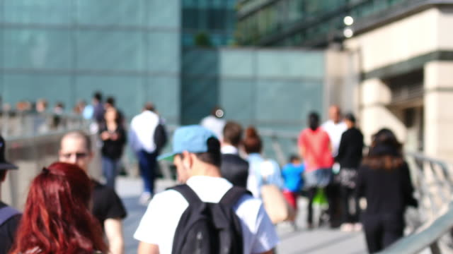 4k rörlighet för affärsmän i kontorsbyggnaden zon, London, England