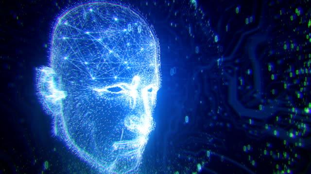 4k Neural Network - Artificial Intelligence, Deep Learning, Singularity, Turing Test (Blue)
