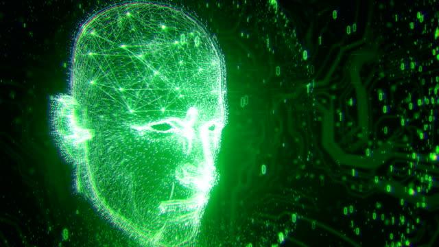 4k Neural Network - Artificial Intelligence, Deep Learning, Singularity, Turing Test (Green)