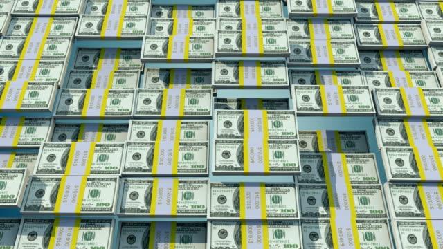 4k one hundred Dollar Bill Bars Bouncing Animation