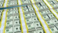 4k one hundred Dollar Bill Bars Wave Animation