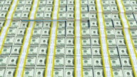 4k one hundred Dollar Bill Bars Wave Animation with zoomin camera action
