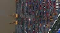 4k resolution ariel view of Bangkok port Thailand