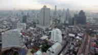 4k resolution Bangkok cityscape ariel view at morning