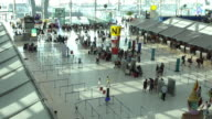 4k Slow motion Crowd traveller at the Airport.