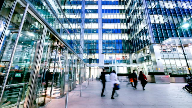 4 k tid förfaller rörlighet för affärsmän i kontorsbyggnaden zon, London, England