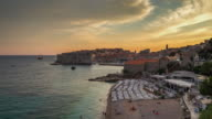 4k Time Lapse of Dubrovnik Old Town in Croatia