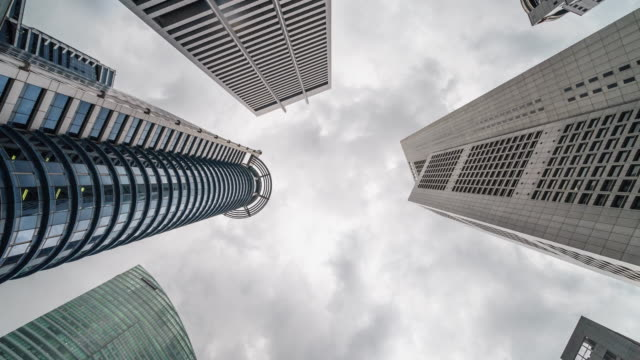 4k time lapse of singapore city group of Building Business District City Architecture Office