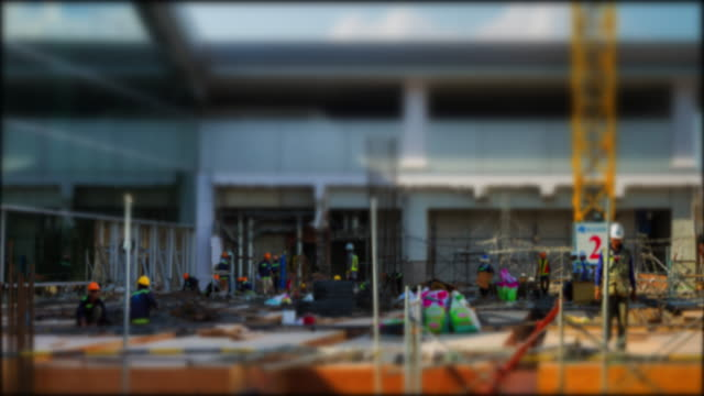 4k Time Lapse (4096x2160) :The construction site zoomin (Apple ProRes 422 (HQ) format).