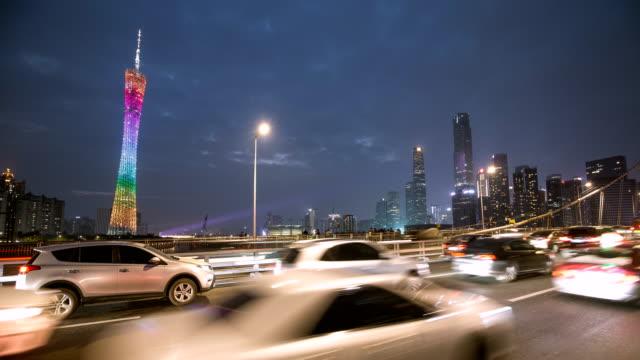 4k timelapse guangzhou cityscape