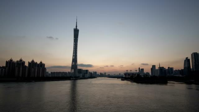 4k timelapse Guangzhou day to night