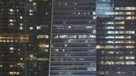 4 k timelapse illuminazione su tower finestre
