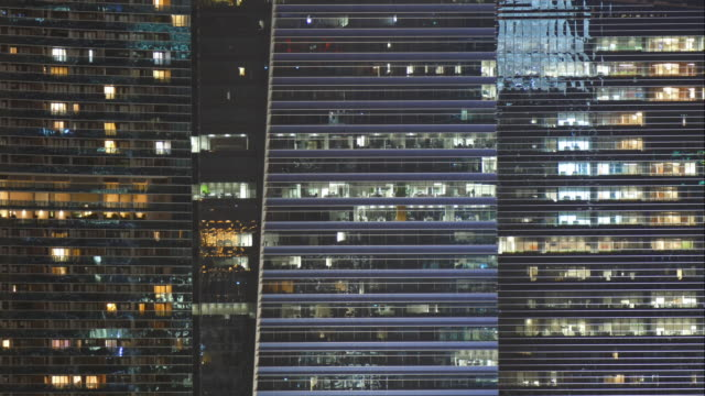4k timelapse lighting on tower windows