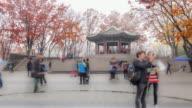 4k time-lapse people walk,Seoul South Korea