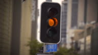 4k Traffic Signal Stop - Green, Amber, Red.