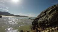 4k: Water Hitting Rocks