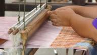 4k: weaver craft of Thailand culture.