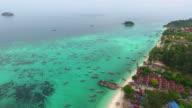 4k.Aerial view of Lipe Island.