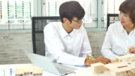 4K:Asian architects defining detail of architectural model