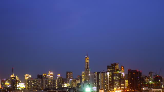 4K:Central big city at night