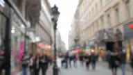 4K:Chrismas street in the central city on December