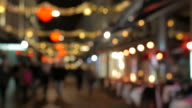 4K:Christmas walking street blur concept