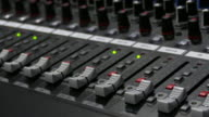 4K:Close-up Live Mixing Desk