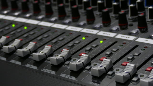 4K:Close-up Live Mixing Desk