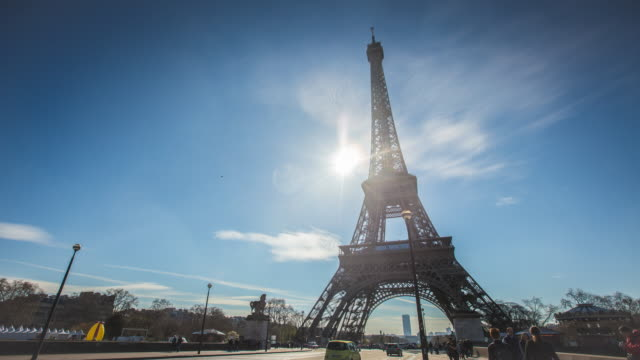 4K:Eiffel tower in Paris, France