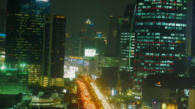 4K:Main street Bangkok Timelapse