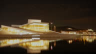 4K:Oslo norway opera house with time-lapse movement