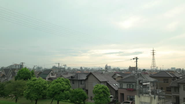 DCI 4K,Residence area and sky in the morning. Kakogawa,Hyogo,Japan