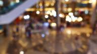 4K:Shopping malls, blurred focus
