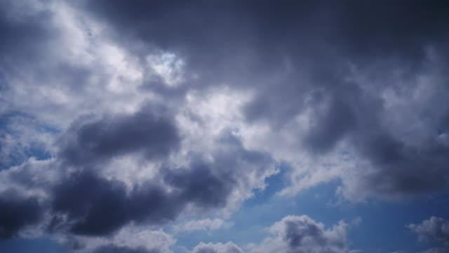 4K:Sky and Dark Cloud before storm
