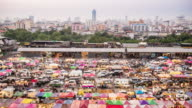4K:Time Lapse Walking People Night market at Bangkok