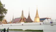 4kTime-lapse day to night Wat Pra Kaew temple in Thailand