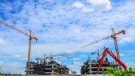 4 K: Zeitraffer von Baustelle-Gebäude