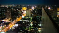 4K:Timelapse of midnight street light