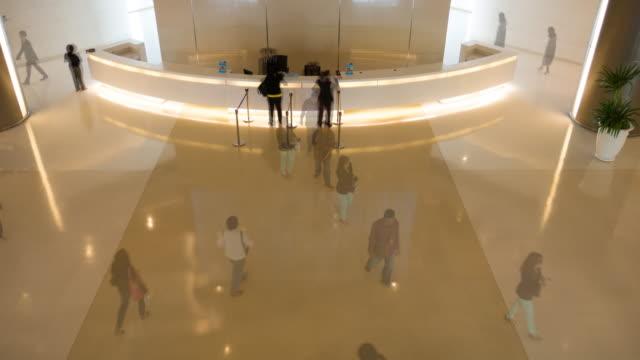 4K:Timelapse of  Walking people in corporate building